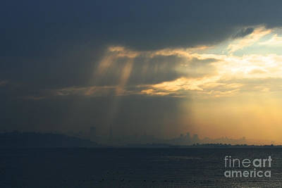 Filtered Light Through San Francisco Skyline Poster by Wingsdomain Art and Photography