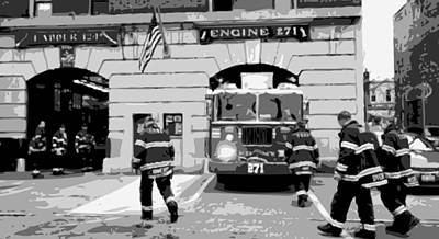 Firehouse Bw6 Poster by Scott Kelley