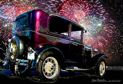 Fireworks In The Ford Poster by Suni Roveto