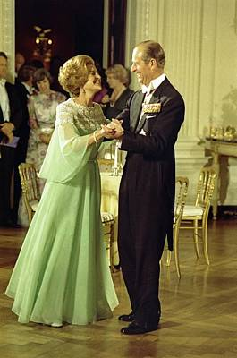 First Lady Betty Ford And Prince Philip Poster by Everett
