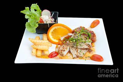 Fish Steak Poster by Atiketta Sangasaeng