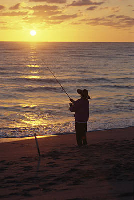 Fishing At Sunrise Poster by Raymond Gehman