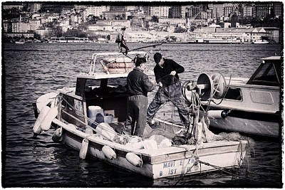 Fishing On The Golden Horn Poster by Joan Carroll