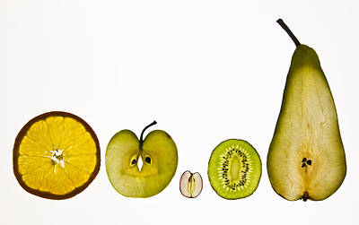 Five A Day Fruits Poster by Margaret Ford
