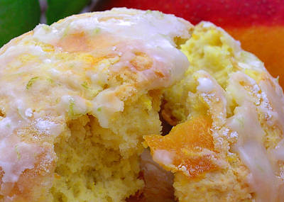 Flaky Mango Scones With Lime Glaze Poster by James Temple