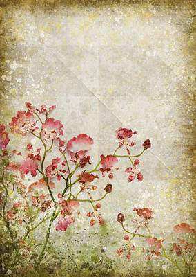 Floral Pattern Poster by Setsiri Silapasuwanchai