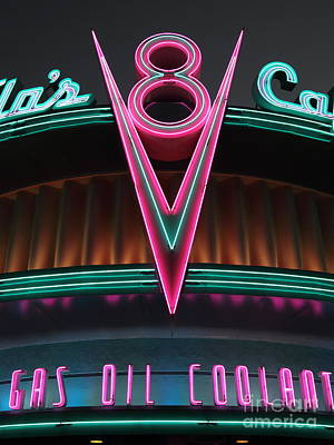 Flos Cafe - Radiator Springs Cars Land - Disney California Adventure - 5d17748 Poster by Wingsdomain Art and Photography