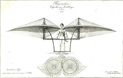 Flugmaschine 1807 Poster by Padre Art