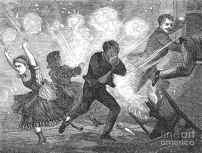 Fluid Lamp Explosion, 1868 Poster by Granger