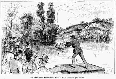 Fly Fishing, 1883 Poster by Granger