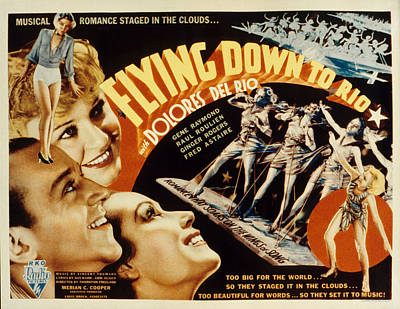 Flying Down To Rio, Fred Astaire Poster by Everett