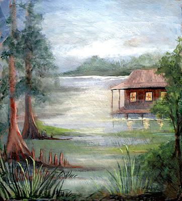 Fog On The Bayou Poster by Elaine Hodges