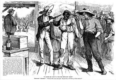 Forcing The Black Vote Poster by Granger