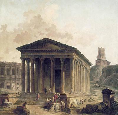 France: Roman Ruins, C1760 Poster by Granger