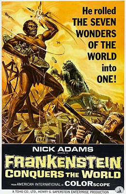 Frankenstein Conquers The World, Aka Poster by Everett