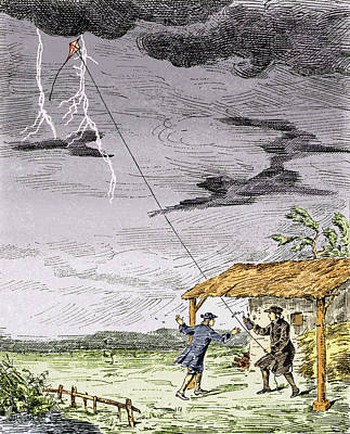 Franklin's Lightning Experiment, 1752 Poster by Sheila Terry