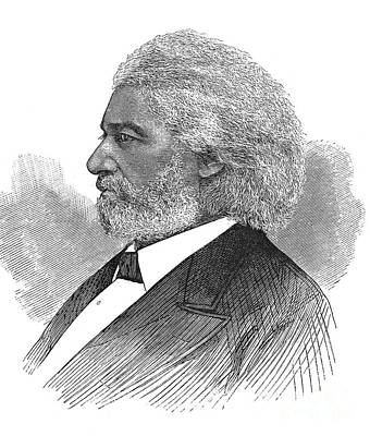 Frederick Douglass (c1817-1895). American Abolitionist. Wood Engraving, American, 1877 Poster by Granger