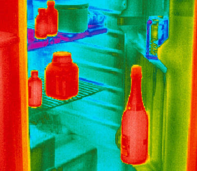 Fridge Thermogram Poster by Dr. Arthur Tucker