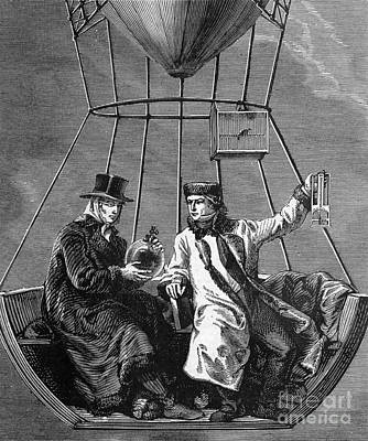 Gay-lussac And Jean-baptiste Biot, 1804 Poster by Science Source