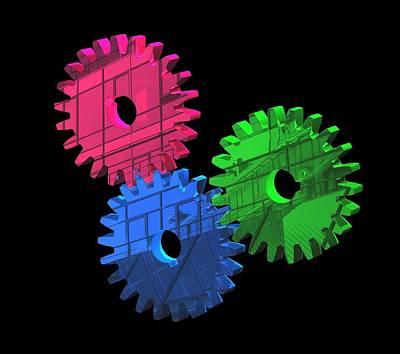 Gear Wheels, Artwork Poster by Laguna Design