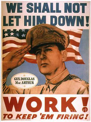 General Douglas Macarthur Poster by Granger