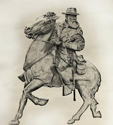 General James Longstreet Statue At Gettysburg  Poster by Randy Steele