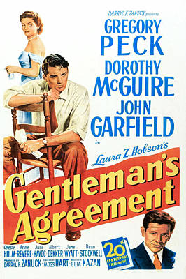 Gentlemans Agreement, Dorothy Mcguire Poster by Everett