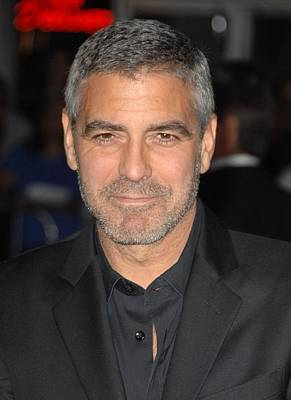 George Clooney At Arrivals For Up In Poster by Everett
