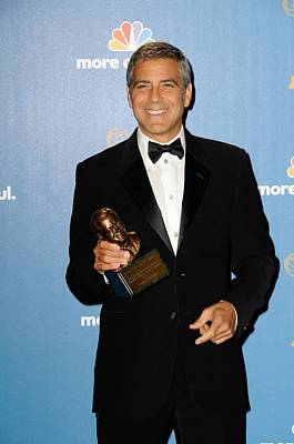 George Clooney Wearing Giorgio Armani Poster by Everett