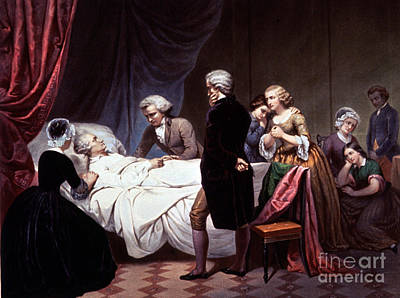 George Washington On His Death Bed Poster by Photo Researchers