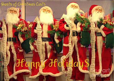 Ghosts Of Christmas Costs Greeting Card Poster by Joe Jake Pratt