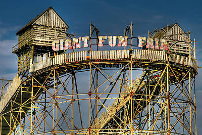 Giant Fun Fair Poster by Adrian Evans