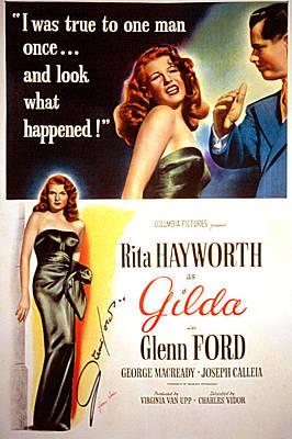 Gilda, Rita Hayworth, 1946, Poster Art Poster by Everett