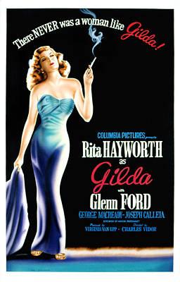 Gilda, Rita Hayworth Poster Art, 1946 Poster by Everett