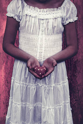Girl With A Heart Poster by Joana Kruse