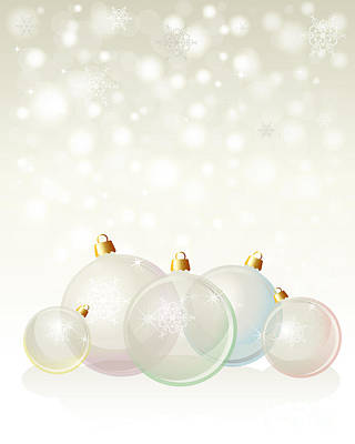 Glass Baubles Pastel Poster by Jane Rix