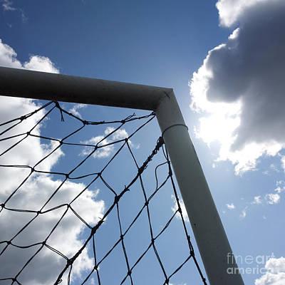 Goal Against Cloudy Sky Poster by Bernard Jaubert