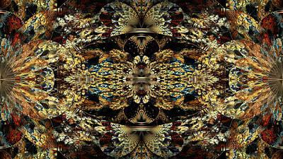 Golden Split Crop Poster by Peggi Wolfe