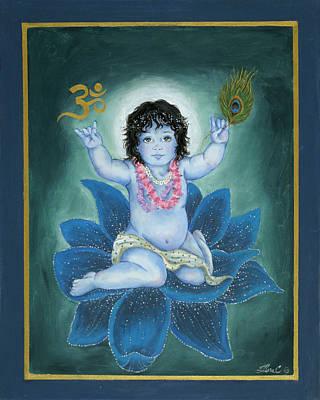 Gopala Poster by Radha Flora Cloud