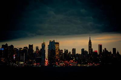 Gotham Nights Poster by David Hahn