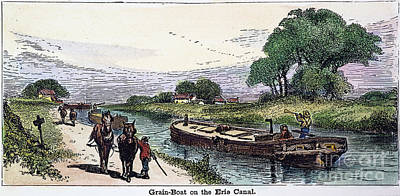 Grain Barge, 19th Cent Poster by Granger