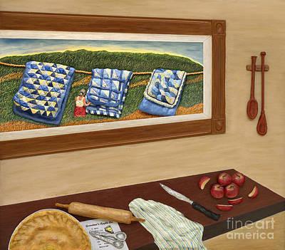 Grandma's Apple Pie Poster by Anne Klar