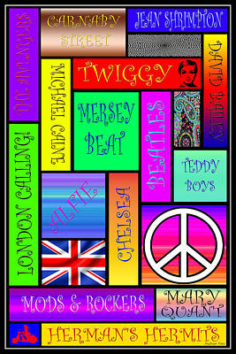 Graphic Sixties London Poster by Andrew Fare