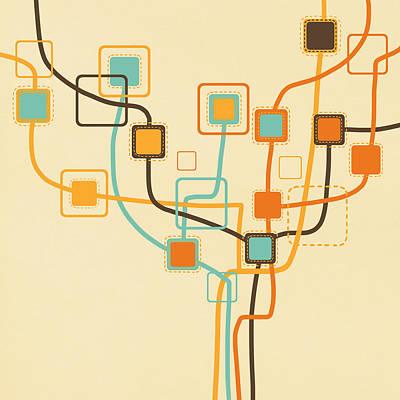 Graphic Tree Pattern Poster by Setsiri Silapasuwanchai