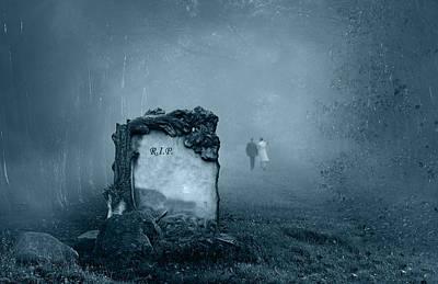 Grave In A Forest Poster by Jaroslaw Grudzinski