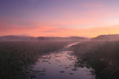 Great Meadows National Wildlife Refuge Dawn Poster by John Burk
