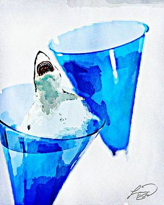 Great White Chardonnay Poster by ABA Studio Designs