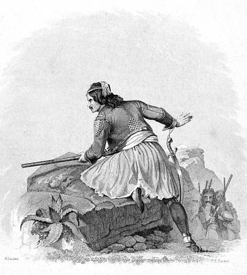 Greek Soldier, 1820s Poster by Granger