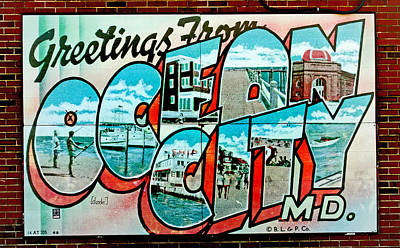 Greetings From Oc Poster by Skip Willits