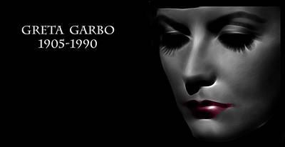 Greta Garbo 1905 1990 Poster by Stefan Kuhn